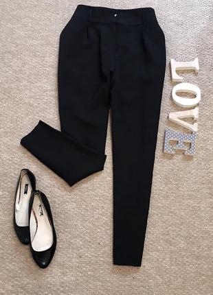 Чёрные стильные штаны boohoo