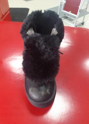 Кожанные зимние ботинки2 фото