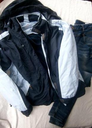 Куртка ветровка с отстегивающей подстежкой размер 48-50