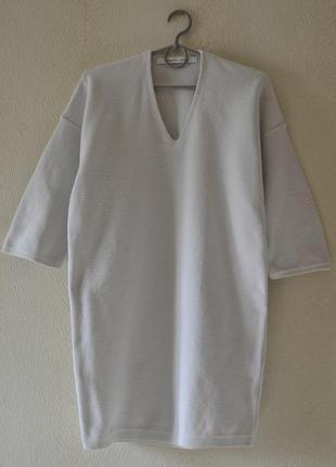 Платье туника джемпер свитер оверсайз р.s-m 95%хлопок uniqlo