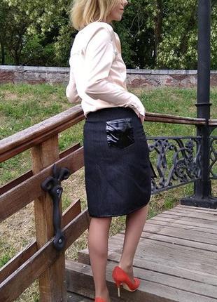 Дизайнерская джинсовая юбка