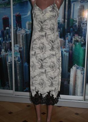 Платье в бельевом стиле шелк