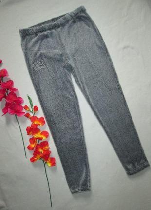 Теплющие пижамные домашние брюки серый меланж cubus