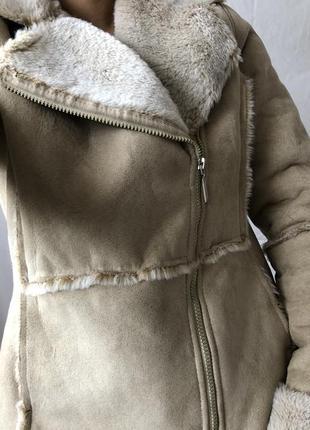 Стильная теплая косуха на меху4