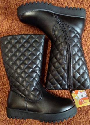 Кожаные сапоги ботинки фламинго 31-38р. на овчине 72wc-cd-0512