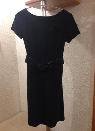 Короткое чёрное платье с поясом ruta-s