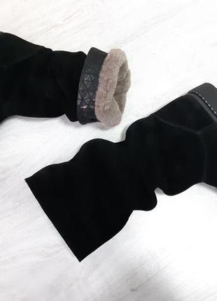 Замшевые сапоги из натуральной замши