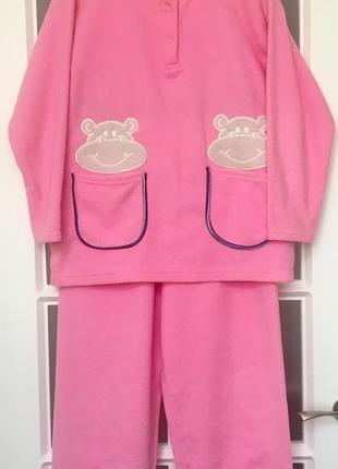Пижама, домашний костюм флисовый