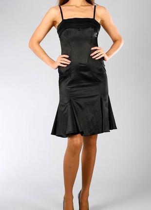 Платье черное миди cavalli