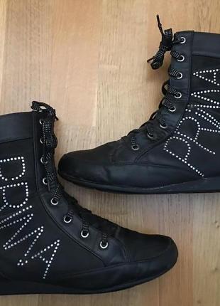 Демисезонные сапоги сапожки ботинки эко кожа кожаные