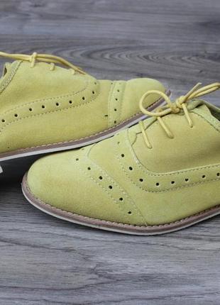 Туфли оксфорды asos натур. замш 39 размер