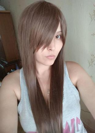 Новый парик светло коричневый косплей