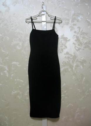 Черное платье-сарафан missguided