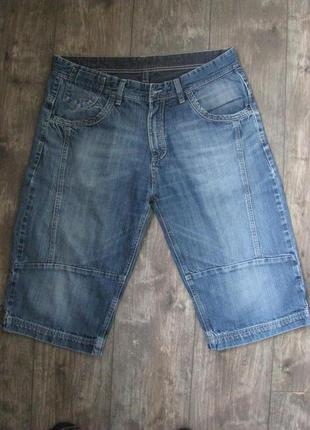 Шорты бриджи мужские 52-54 джинсовые w 36 евро