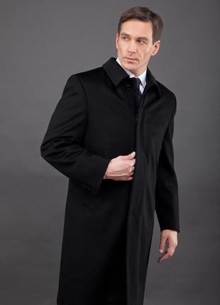 Зимнее классическое кашемировое пальто италия размер л-хл