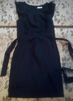 Хлопково-льняное платье-футляр yessica
