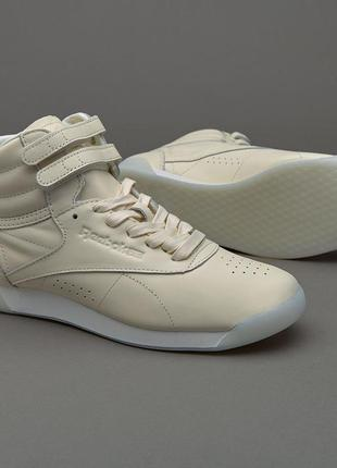 Reebok classics womens freestyle hi face 35 hi-tops milky white оригинал!