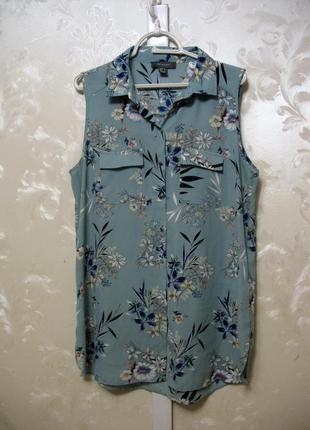Красивейшая блуза-рубашка без рукавов primark