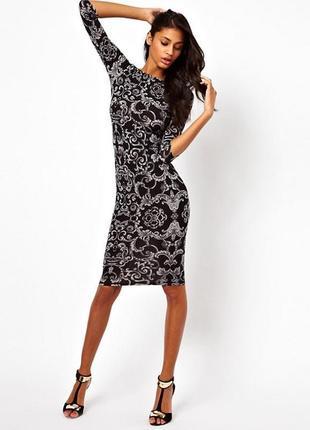 Платье asos c принтом