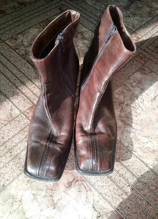Ботинки демисезонные из натуральной кожи