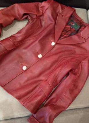 Кожаный пиджак, жакет