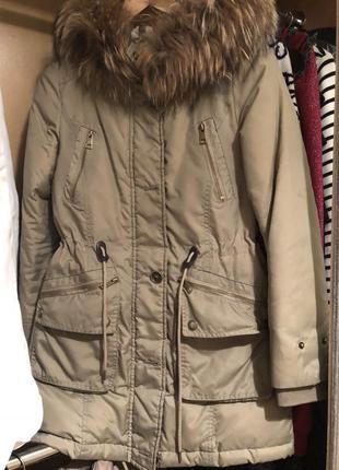 Парка пуховик куртка burberry размер xs
