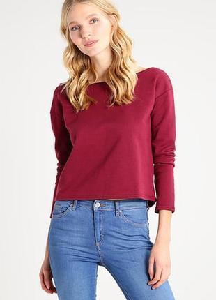 Стильный укороченный свитер цвета марcала missguided