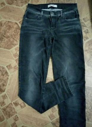 Стильные джинсы с завышенной талией р.46