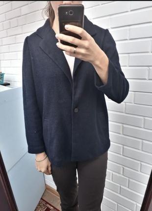 Стильный синий  вафельный кардиган от zara кофта джемпер1 фото
