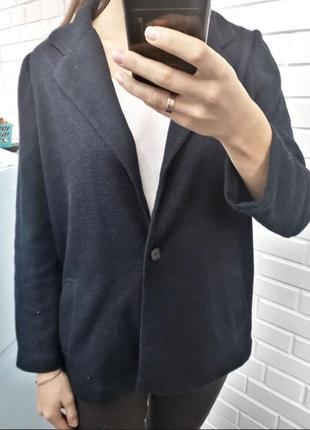 Стильный синий  вафельный кардиган от zara кофта джемпер2 фото