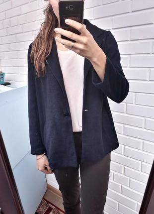 Стильный синий  вафельный кардиган от zara кофта джемпер3 фото