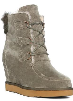 Ботинки от australia luxe collective оригинал, наличие 26см стелька,натуральный мех