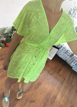 Пляжное платье туника c открытой спиной платье накидка на купальник oсean сlub