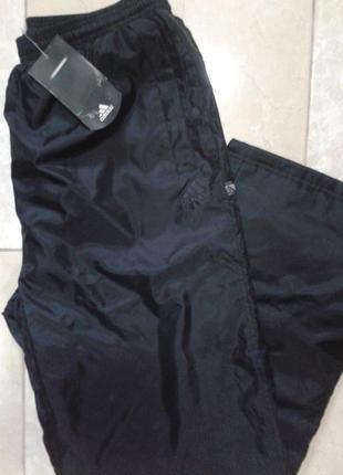 Оригинал! непромокаемые мужские штаны на флисе хл adidas