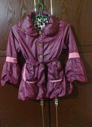 Демисезонное пальто на 6-7 лет , модное , стильное , на флисе , осеннее