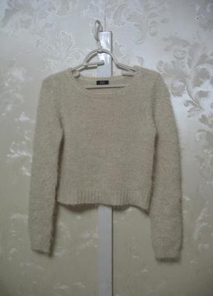 Укороченный свитер-топ травка пудрового цвета f&f, размер xs-s
