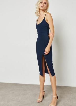 Великолепное миди платье с разрезом missguided