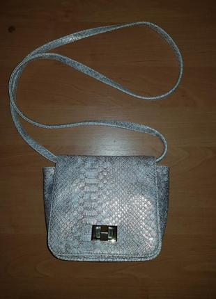 Красивенная сумочка змеиный принт кроссбоди atmosphere