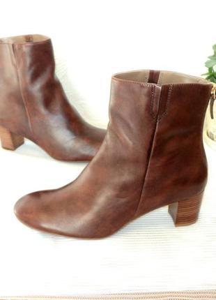 Фирменные кожаные ботиночки- ботильоны, 42 р (27,5 см)