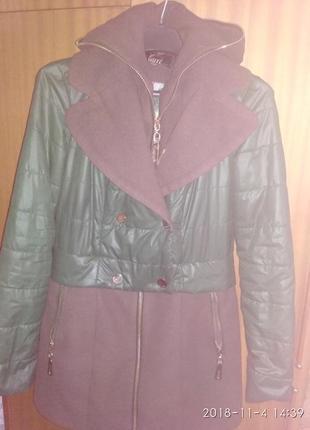 Тёплая курточка-пальто