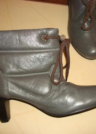 Кожаные утепленные ботиночки mexx 38 размер, стелька 24,5 см.