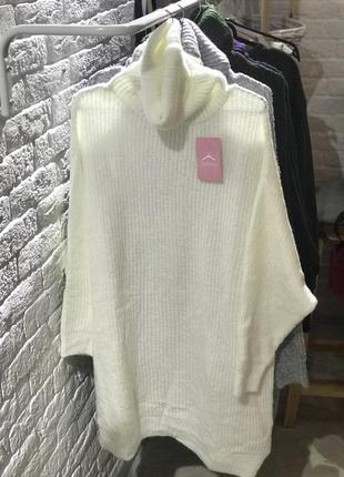 Трендове плаття вільного крою із широким хомутом, оверсайз, молочний колір