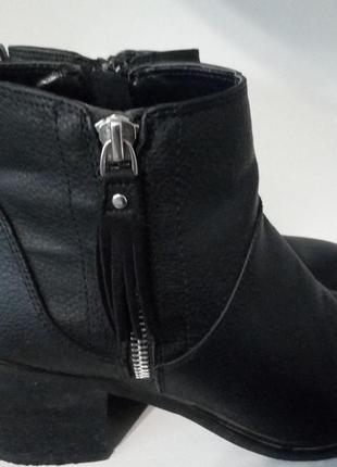 Черные демисезонные ботинки next