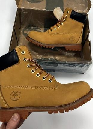 Зимние ботинки с мехом унисекс timberland разные размеры в наличии