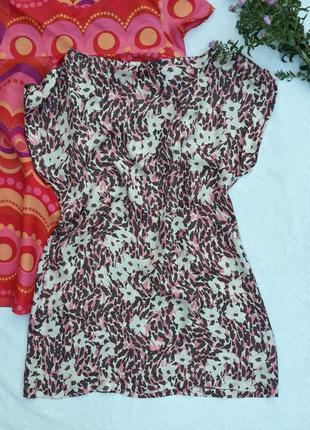 Платье туника, вискоза, пятнистая расцветка