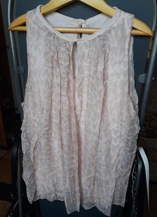 Шелковая итальянская блуза 100% шелк