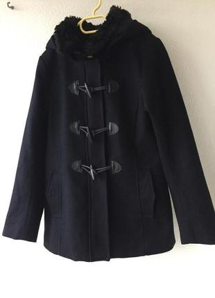 Актуальное шерстяное пальто парка дафлкот с капюшоном в стиле zara