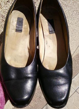 Кожаные туфли.36р(польша)