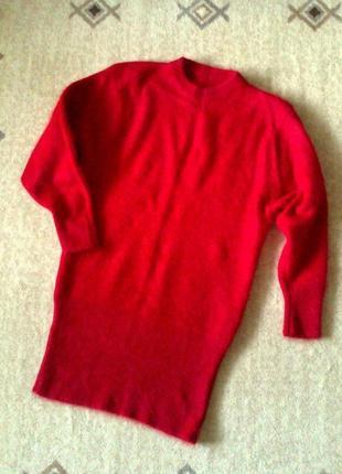 36-40р. яркое платье-туника, тёплая ангора