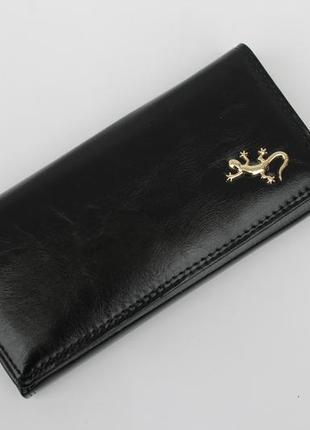 Кошелек, женский кошелек, портмоне, эко кожа, черный кошелек